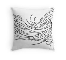 Raven Haired Girl - Print Throw Pillow