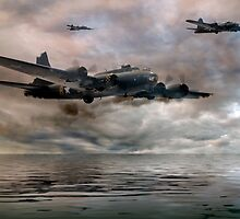 B-17 Flying Fortress - Almost Home by © Steve H Clark Photography