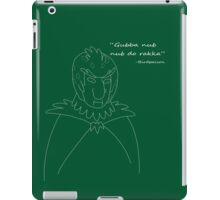 Ancient saying from Birdperson people in white iPad Case/Skin