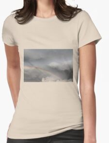 rainbow in the sky Womens Fitted T-Shirt