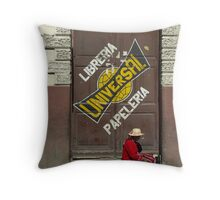 A message on the door - Bolivia Throw Pillow
