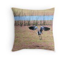 White-Necked (Pacific) Heron Throw Pillow