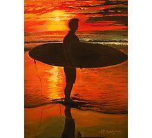 Sunrise Surfer - Seascape Photographic Print