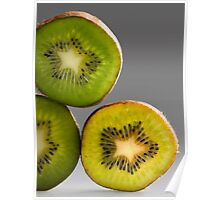 Kiwis green and yellow Poster