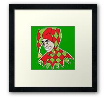 Sad Arlequin Framed Print