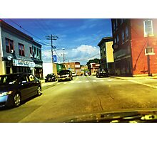 A Typical Rural Downtown Scene Photographic Print