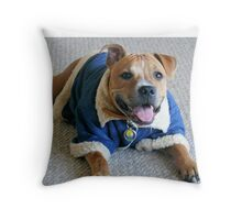 Warm in winter Throw Pillow