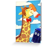 Doctor Who - Amy & Giraffe 11th  Greeting Card