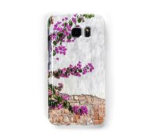 bougainvillea on wall as texture Samsung Galaxy Case/Skin