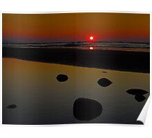 Dark Rock Sunset Poster