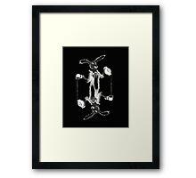 March Hare Card Design Framed Print