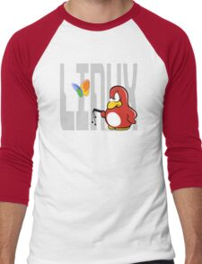 Linux vs Windows Men's Baseball ¾ T-Shirt