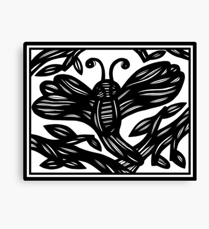 Dragonfly, Insect, Graphic Print Art Canvas Print