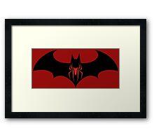 Batman VS Spider-Man Framed Print