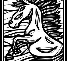 Horse, Horses, Wall Art, Graphic Print Art by martygraw