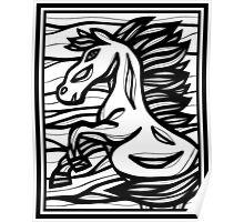 Horse, Horses, Wall Art, Graphic Print Art Poster