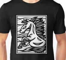Horse, Horses, Wall Art, Graphic Print Art Unisex T-Shirt