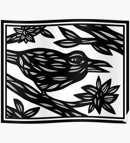 Bird Artwork, Illustration Bird, Animal Illustration Poster