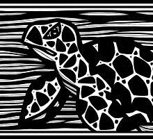 Sea Turtle, Turtle, Wall Art, Graphic Print Art by martygraw