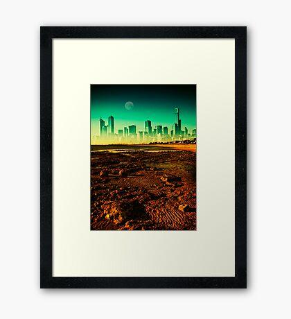 Surreal Melbourne Framed Print