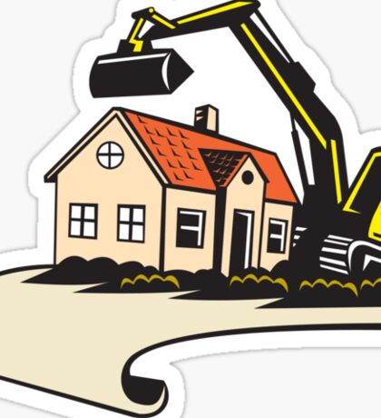 House Demolition Building Removal Sticker