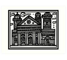Architecture Art, Architecture Drawing, Architecture Print Art Print
