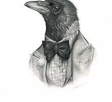 dapper crow by gracetattoo