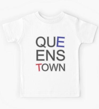 Queenstown Text in Colour Kids Tee