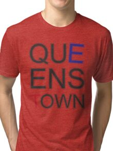 Queenstown Text in Colour Tri-blend T-Shirt