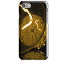 Incandescent light bulb with a Raketa watch close-up iPhone Case/Skin
