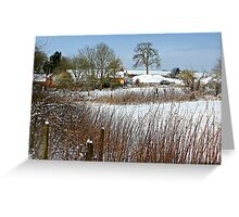 Snow Comes South Greeting Card