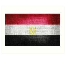 Egypt Flag Art Print