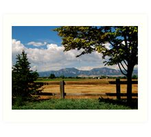 Colorado Flatirons Art Print