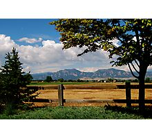 Colorado Flatirons Photographic Print