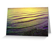 Glowling sea scape Greeting Card