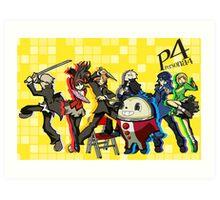 Persona 4 TWEWY style Art Print