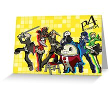 Persona 4 TWEWY style Greeting Card