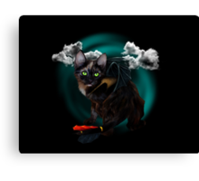 Mewthless, the dragon kitten! Canvas Print