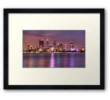 Perth WA  at Night - HDR Framed Print