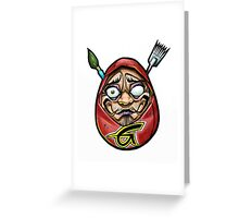 grace tattoo daruma logo Greeting Card