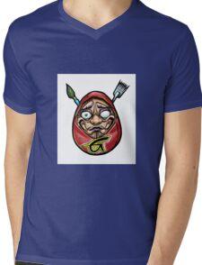 grace tattoo daruma logo Mens V-Neck T-Shirt