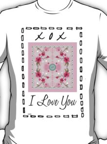i love you button T-Shirt