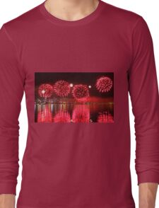 Perth WA Skyworks Australia Day 2015 - 1 - HDR Long Sleeve T-Shirt