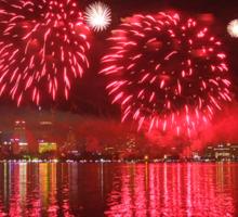 Perth WA Skyworks Australia Day 2015 - 1 - HDR Sticker