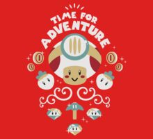 Time for Adventure Toad One Piece - Short Sleeve