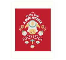 Time for Adventure Toad Art Print