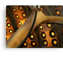 Tardis Wall 10th Doctor Canvas Print