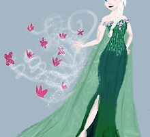 Frozen Fever Elsa by leahkatewrite