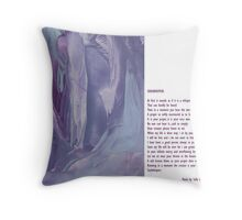 Collaboration soulwhispers with Sally Omar Throw Pillow