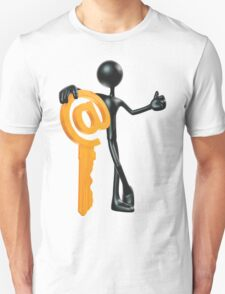 Man with a key - @! Unisex T-Shirt